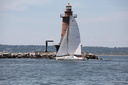 Gotham Multihulls '14: Day 2, light wind and a special guest